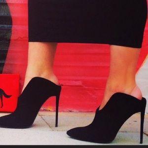 Giuseppe Zanotti Olinda Suede Mules Slip On Shoes